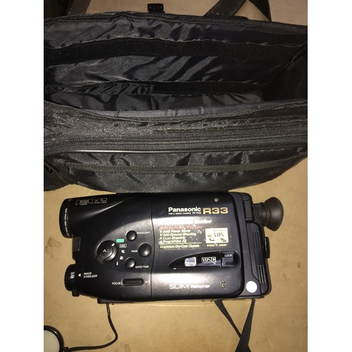 34 - A Panasonic R33 video camera....