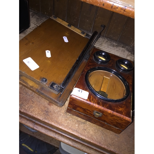 41 - A mini magnifier and a small guillotine...
