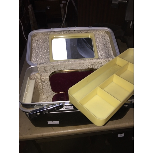 5 - A hard vanity case and smaller jewellery box inside...