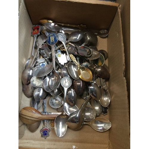 45 - Small box of plated collectors spoons...