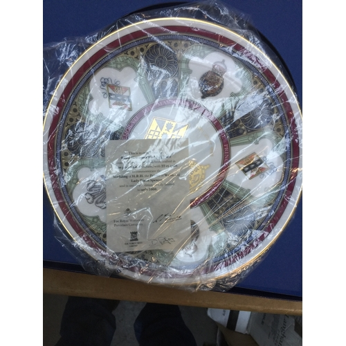 16 - A Royal Worcester wedding plate Charles and Diana...