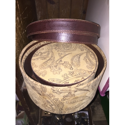 60 - A set of circular boxes for sewing or jewellery....