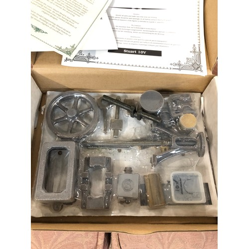 43 - A boxed Stuart live steam no.1 model kit with 10v reverse gear part....