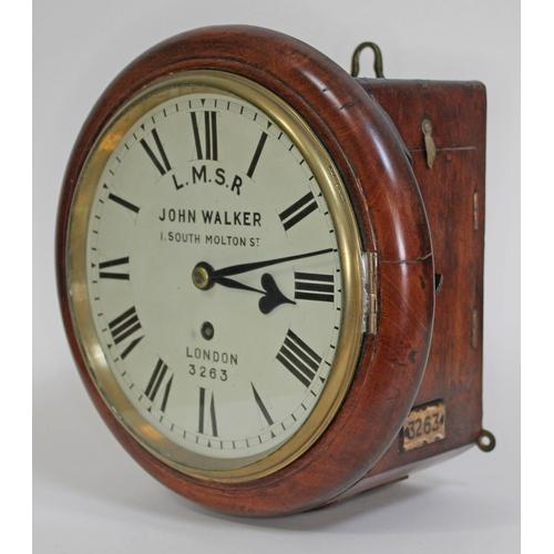 10 - A John Walker, London Midland Scottish Railway clock, the 8