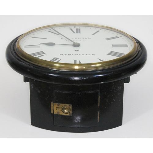 16 - A mid 19th century ebonised wall clock, 12