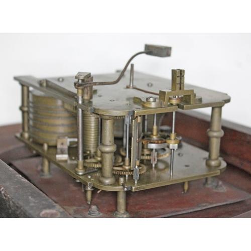 22 - A 19th century rosewood drop dial wall clock, 14
