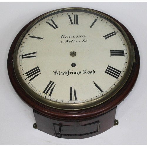 39 - A 19th century fusee wall clock, the 10