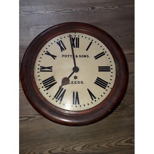 47 - A late Victorian oak wall clock, the 16