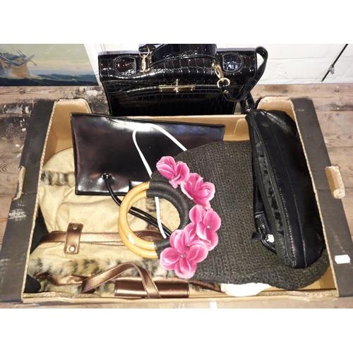 1 - A box of handbags....
