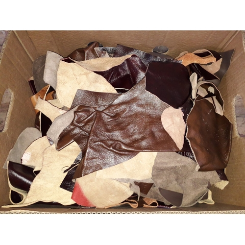 18 - A box of leather off cuts....