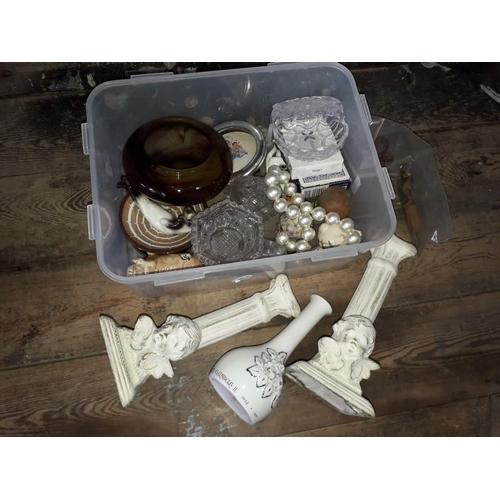 25 - A box of misc. ornaments etc....