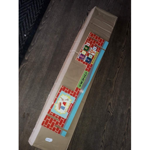34 - A box of slot together educational toy shops....