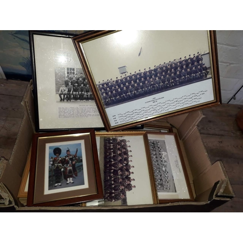 7 - A box of military photographs....
