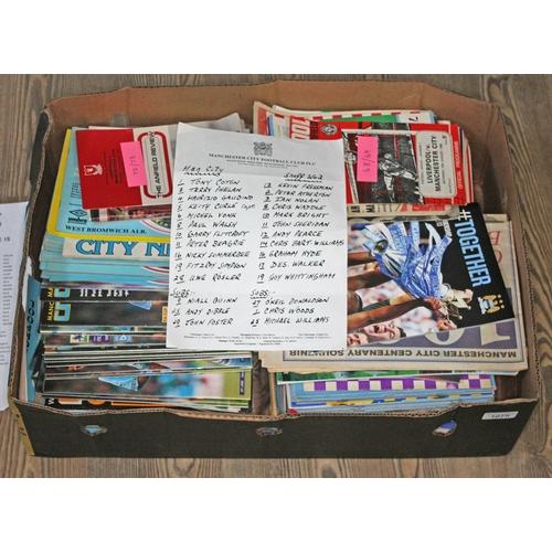 40 - A box of football programmes....