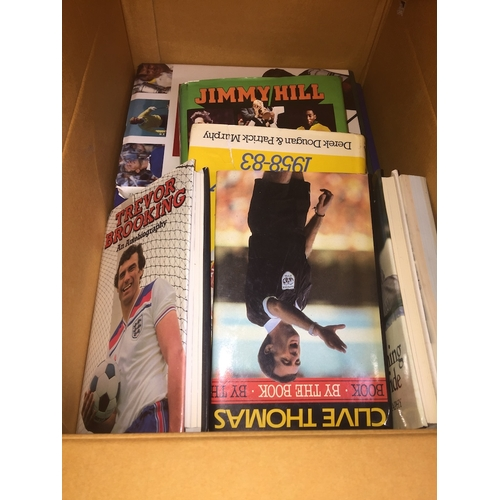 288 - A box of football related books...