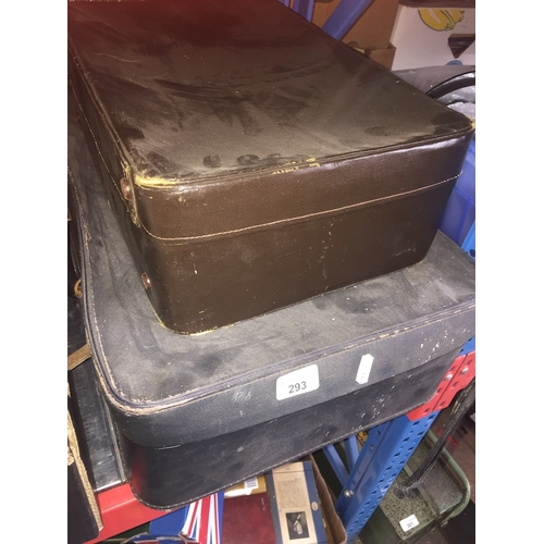 293 - 2 vintage suitcases...