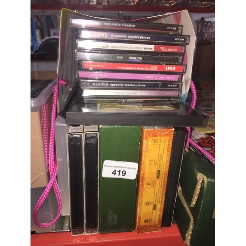 419 - A bag of CD's and DVD's...