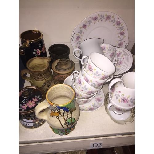 597 - Various pottery and china teaware...