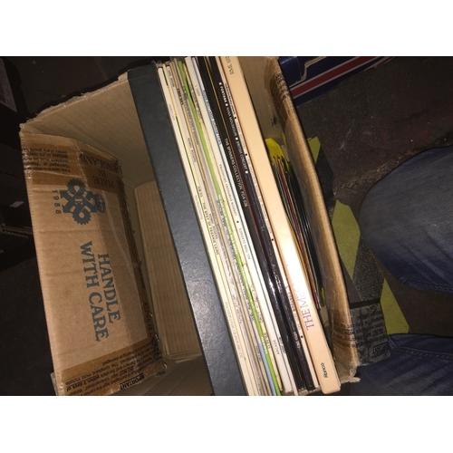638 - Box of LP records...