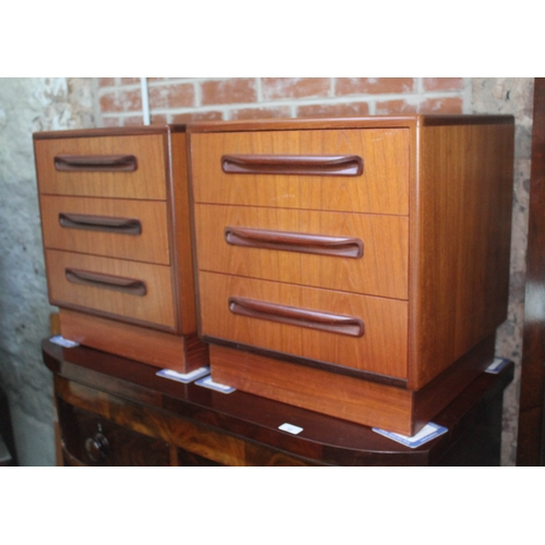 33 - A pair of G-Plan Fresco bedside chests....