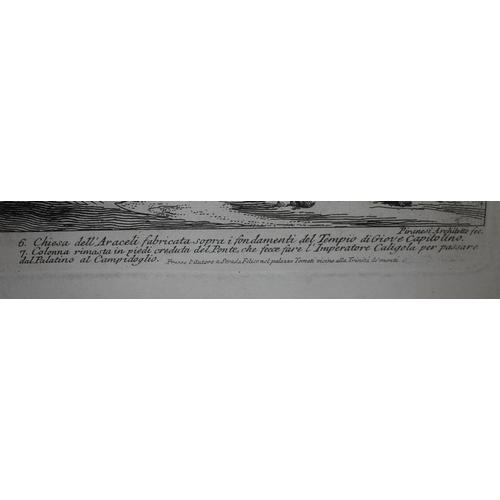 36 - Giovanni Battista Piranesi (1720-1778), Arco Di Settimio Severo, engraving, 59cm x 38cm, glazed and ...