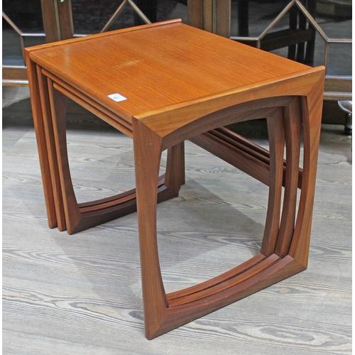 46 - A G-Plan teak nest of three tables, height 49cm, width 53cm....