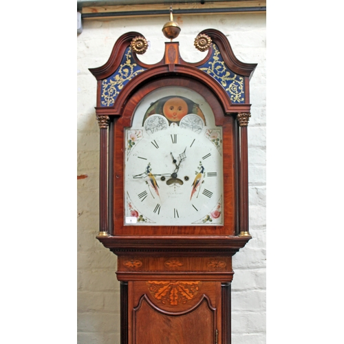 8 - A George III mahogany eight day long case clock, the case attributed to Gillows Lancaster with brass...