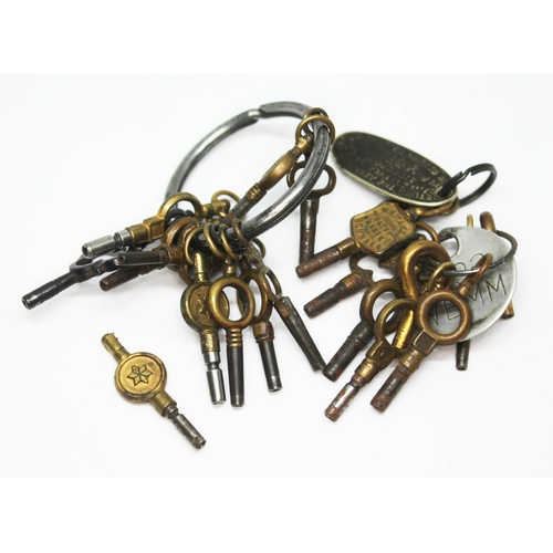 401 - Assorted watch keys....