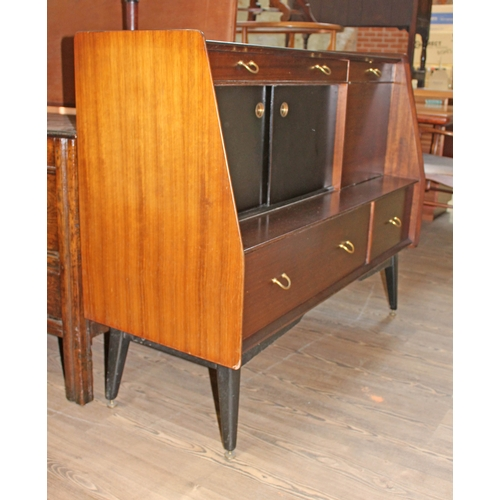 17 - A G-Plan tola and black sideboard, width 121cm, depth 48cm & height 97cm....