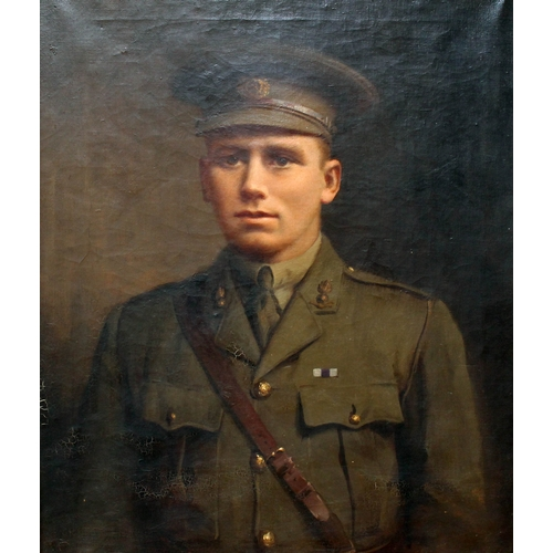 45 - Early 20th Century School, half length portrait of British Officer Roland Burke Williams, killed in ...