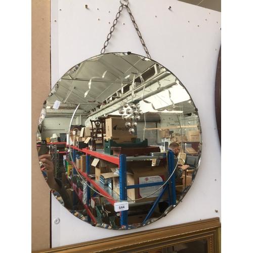 644 - Circular etched mirror