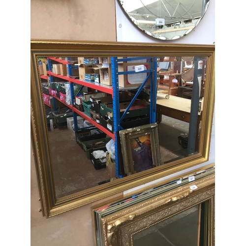645 - Gold frame mirror