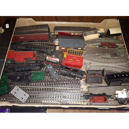 16 - A box of model railway items...