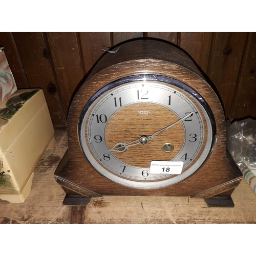 18 - A Smiths Enfield mantle clock...