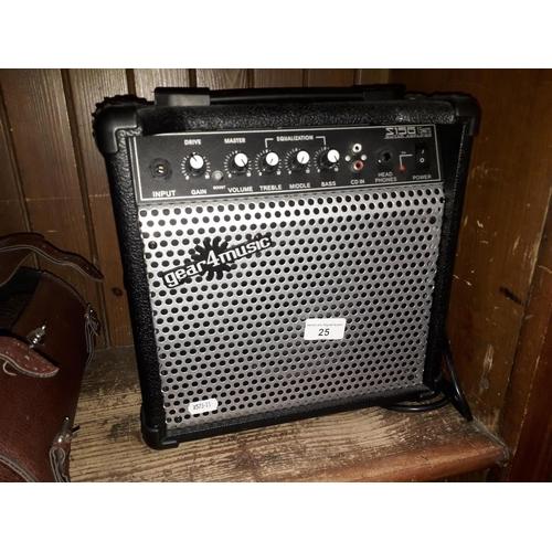 25 - A Gear4music 15w guitar amplifier...