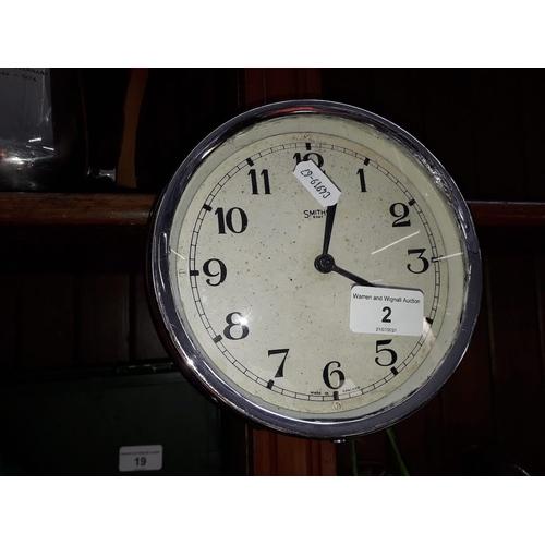 2 - A Smiths bakelite wall clock...