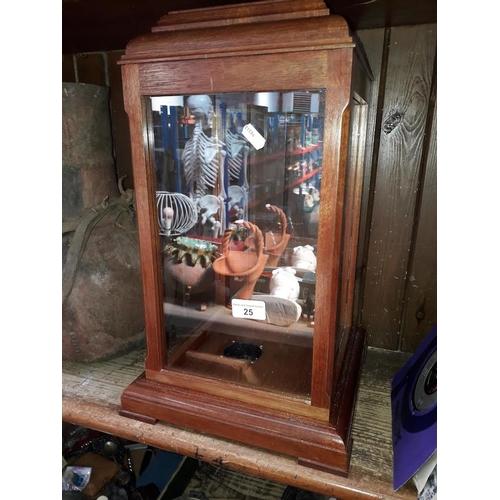 25 - A glazed display case...