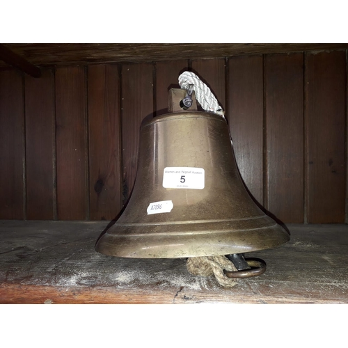 5 - A large brass bell...