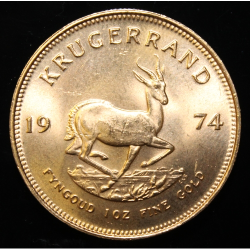 16 - South Africa, 1974 Krugerrand, 1 oz. fine gold (91.67%) ONLY 10% BUYER'S PREMIUM (INCLUSIVE OF VAT) ...