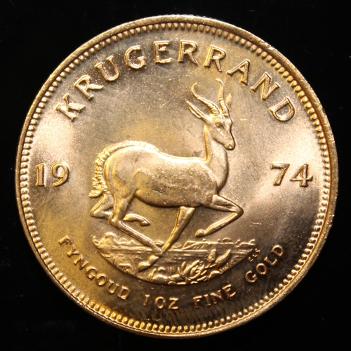 18 - South Africa, 1974 Krugerrand, 1 oz. fine gold (91.67%) ONLY 10% BUYER'S PREMIUM (INCLUSIVE OF VAT) ...