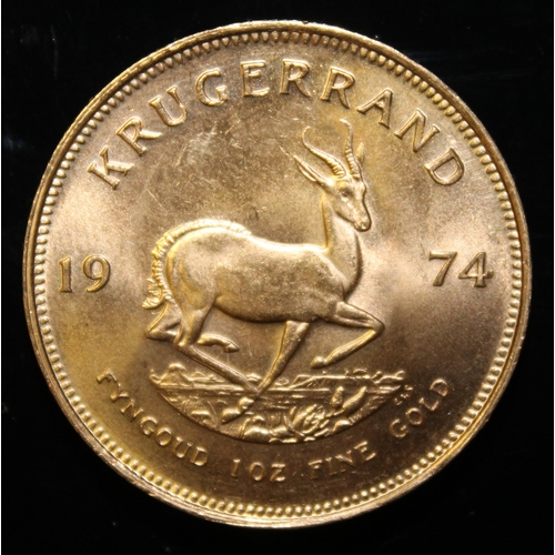 27 - South Africa, 1974 Krugerrand, 1 oz. fine gold (91.67%) ONLY 10% BUYER'S PREMIUM (INCLUSIVE OF VAT) ...