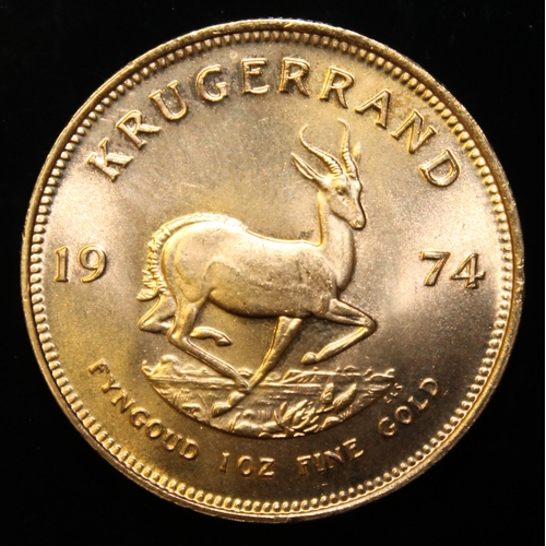33 - South Africa, 1974 Krugerrand, 1 oz. fine gold (91.67%) ONLY 10% BUYER'S PREMIUM (INCLUSIVE OF VAT) ...
