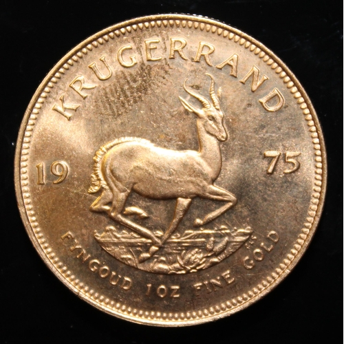 69 - South Africa, 1975 Krugerrand, 1 oz. fine gold (91.67%) ONLY 10% BUYER'S PREMIUM (INCLUSIVE OF VAT) ...