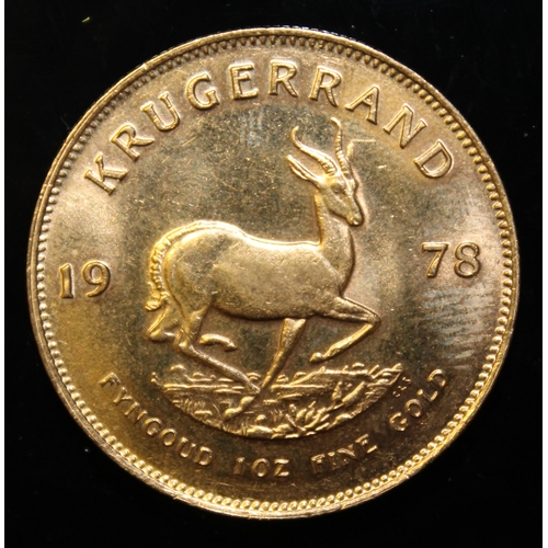 76 - South Africa, 1978 Krugerrand, 1 oz. fine gold (91.67%) ONLY 10% BUYER'S PREMIUM (INCLUSIVE OF VAT) ...