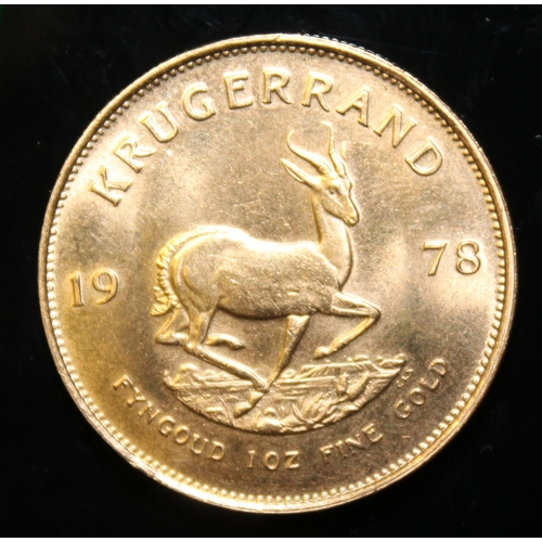 81 - South Africa, 1978 Krugerrand, 1 oz. fine gold (91.67%) ONLY 10% BUYER'S PREMIUM (INCLUSIVE OF VAT) ...