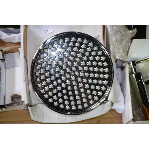 29 - large traditional shower head rrp £60...