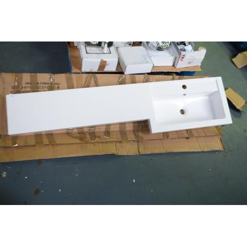33 - modern 1500mm vanity sink rrp £300...