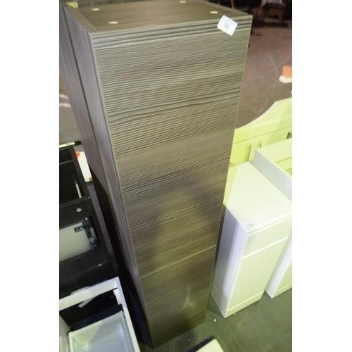 66 - oak effect tall bathroom storage unit rrp £110...