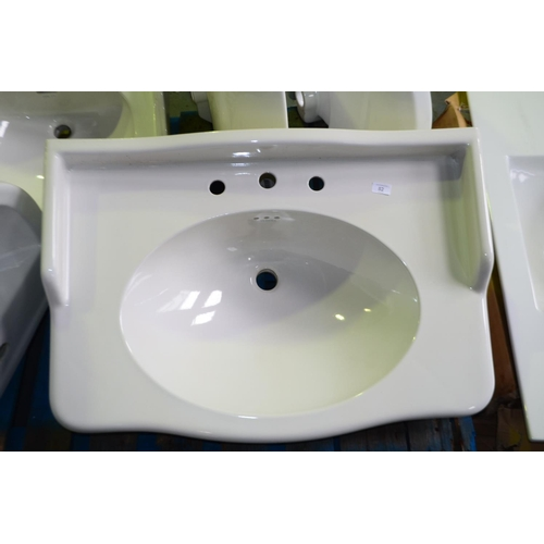 82 - 850mm traditional vanity sink rrp £250...
