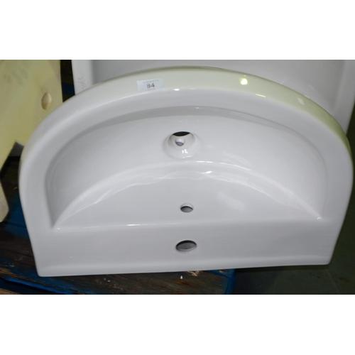84 - modern basin sink rrp £60...